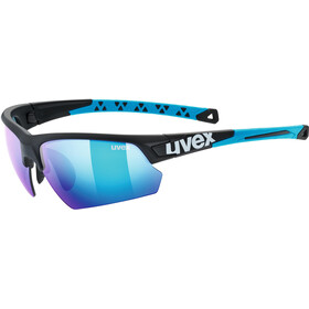 UVEX Sportstyle 224 Occhiali, black matt blue/mirror blue